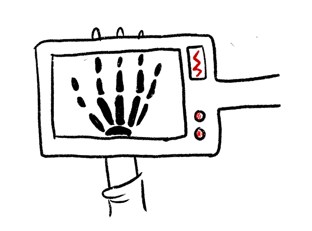 X-Ray machine of hand IT Infrastructure