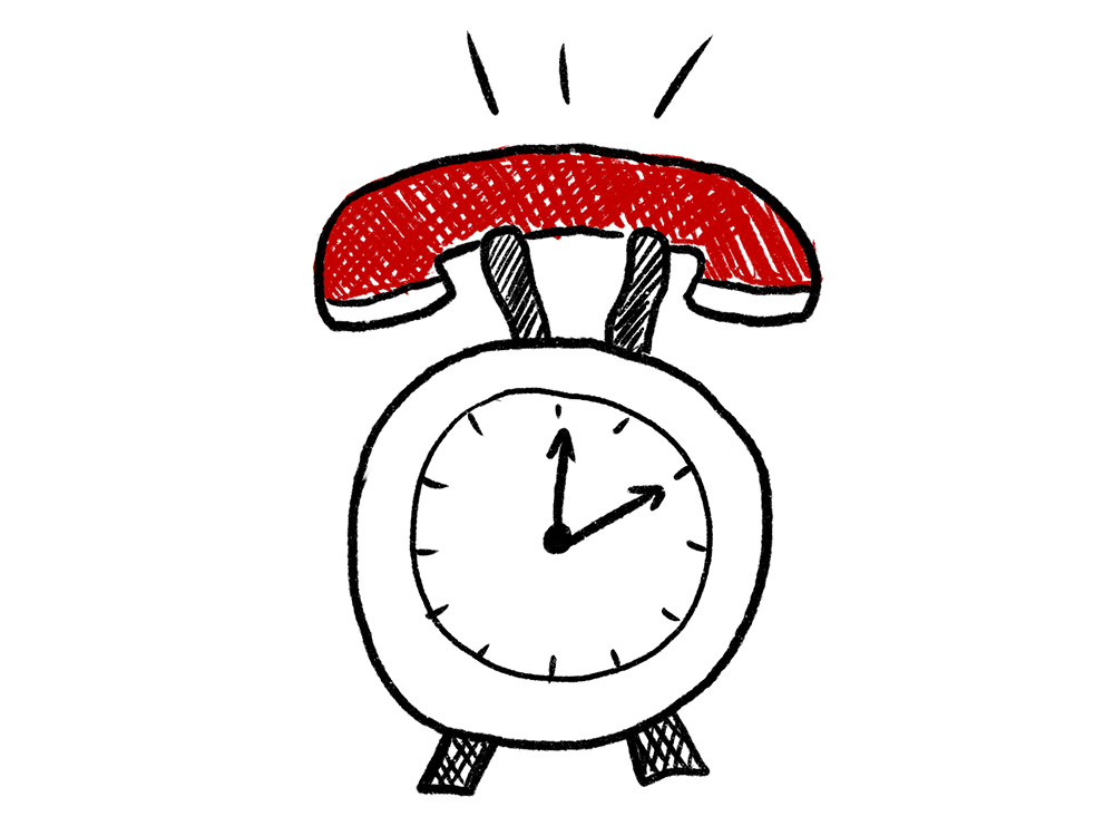 Phone and clock connected together for 24x7 managed voice services