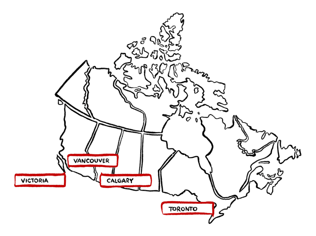 Nucleus Networks locations in Victoria Vancouver Calgary Toronto